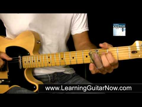 Hình ảnh trong video Open G Tuning Slide Guitar Lesson