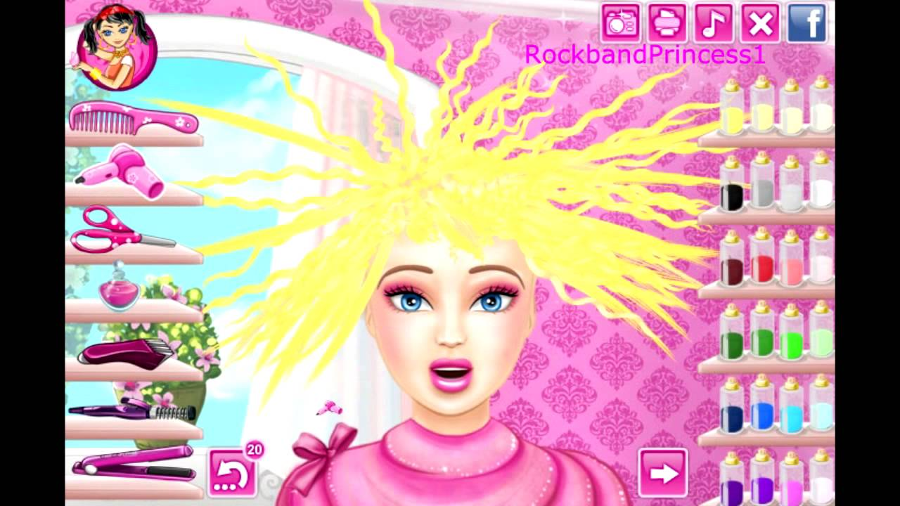 free online barbie hair cutting games to play now