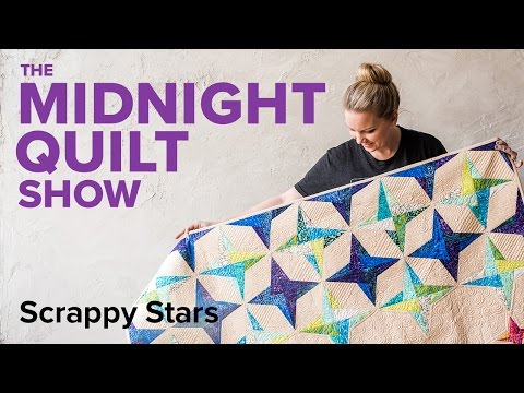 Angela's Scrappy Stars Quilt | Midnight Quilt Show 4-Point Star Foundation Paper Piecing