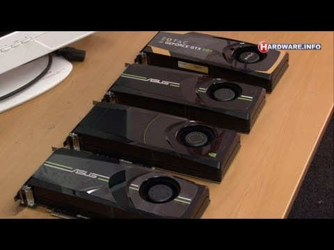 nVidia GeForce GTX 680 Quad SLI demo