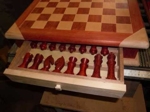 Hand Made Chess Board And Set Youtube