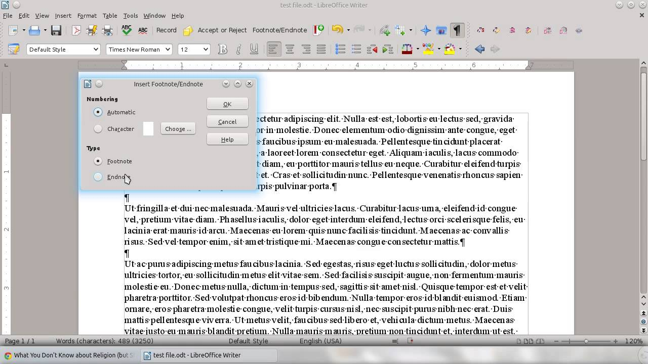 how to add footnotes in gmail