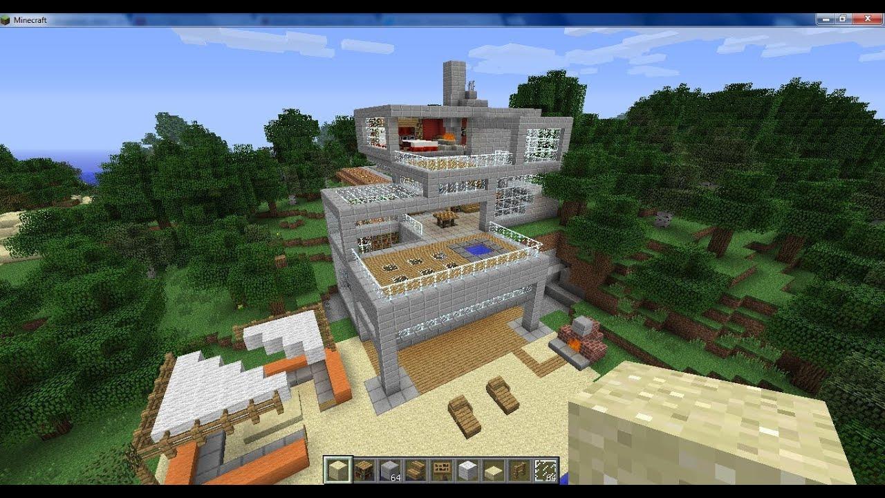 Minecraft maison design 2 youtube - Maison minecraft design ...