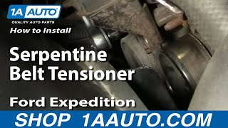 How To Install Replace Serpentine Belt Tensioner Ford F