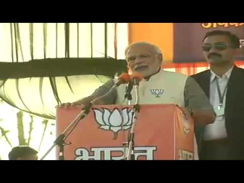 Shri Narendra Modi addressing a Massive Gathering in Gurgaon, Haryana