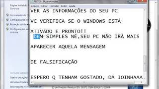TUTORIAL COMO ATIVAR O WINDOWS 7 TODAS AS VERSÕES 2013