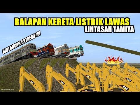 BALAPAN KRL LAWAS DI LINTASAN TAMIYA    FUNNY RACING !!