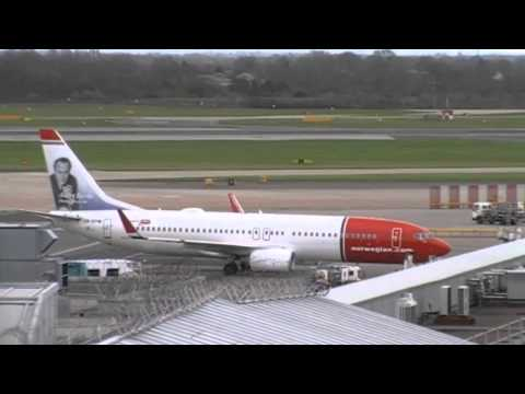 Plane Spotting At Manchester Airport Landings And Takeing Off On 17/03/2014