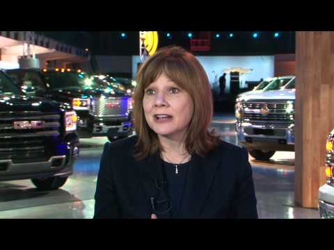 Mary Barra discusses GM Products Unveiled at the Show | AutoMotoTV