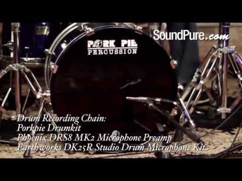 Pork Pie  3pc Percussion Sapphire Blue Drum Kit Demo