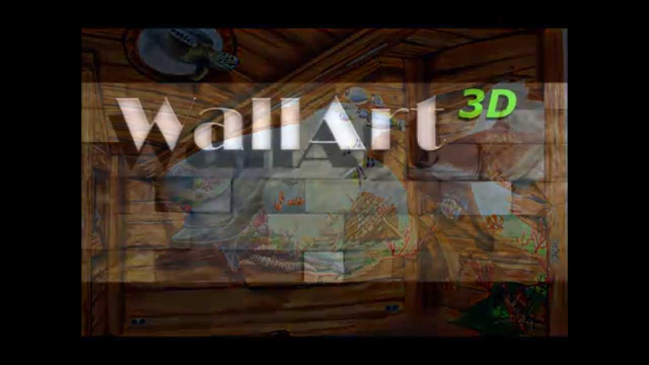 Hand painted murals illusion painting on the walls in for Airbrush mural painting