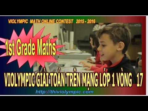 Thi Violympic Giải toán trên mạng Lớp 1 Vòng 17 cấp thành phố năm 2016