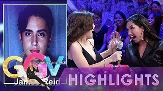 """GGV: Nathalie and Roxanne yell at seeing James Reid's picture in """"Wititit or Keriboomboom"""" game"""