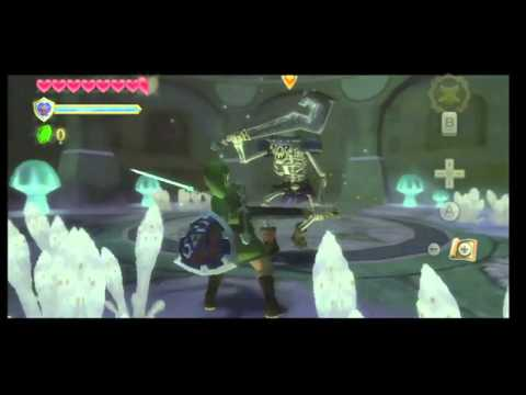 Skyward Sword Gameplay: Link V.S. Stalfos (Commentary)