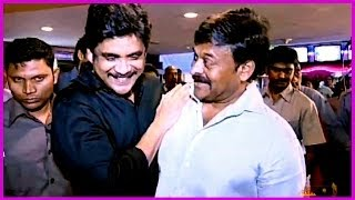 Chiru & His Family Members At World Premier Show Of