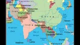 The Modern China Future Asia Map