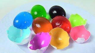 Hướng Dẫn Cách Làm Rau Câu Trong Quả Trứng Gà Cho Bé / Bé Học Màu Sắc [Bí Đỏ]