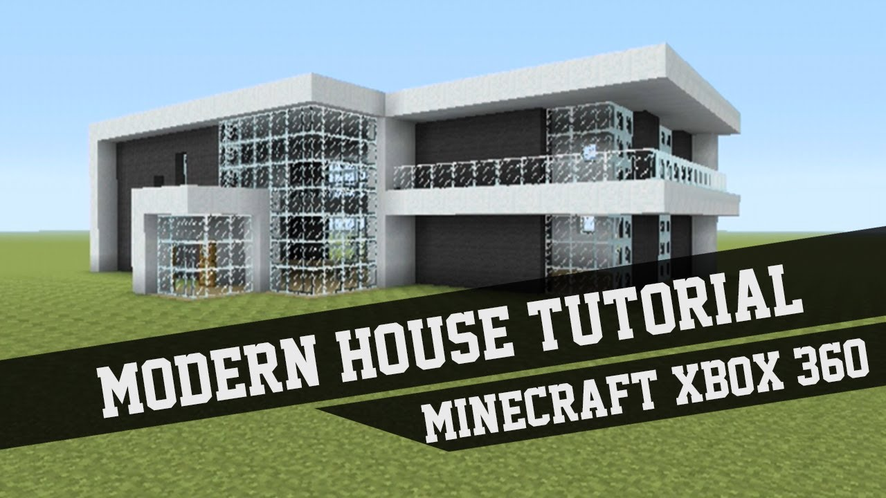 Easy Minecraft Modern House Tutorial Youtube Clipgoo. Blueprints To ...