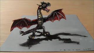 Dibujar un dragón rojo en 3D