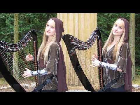 LORD OF THE RINGS Medley (Harp Twins electric) Camille and Kennerly