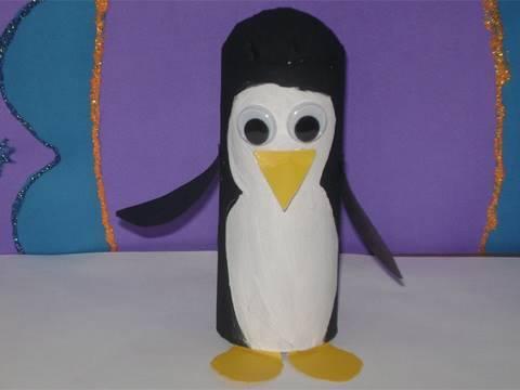 Toilet Paper Tube Penguin