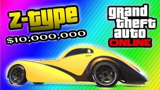 "GTA 5 Secret ""Z-Type"" Car Location ($10,000,000 Car"