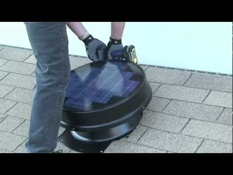 How to install Solar Attic Fan DIY YellowBlueTech