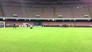 Young Boys, la rifinitura al San Paolo prima del match col Napoli