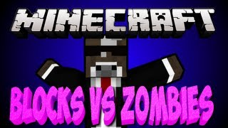 Minecraft 1.6 BLOCKS VS. ZOMBIES Map Minigame