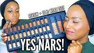 AN ACTUAL SHADE RANGE! NARS Natural Radiant Longwear Foundation + 10hr Wear Test | Aysha Abdul