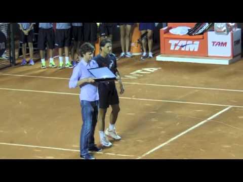 Guga Kuerten e Rafa Nadal no Rio Open
