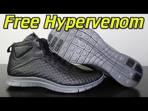 Nike Free Hypervenom Mid Black/Dark Grey - Review + On Feet