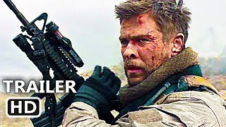 12 STRΟNG Official Trailer (2018) Chris Hemsworth, Action Movie HD