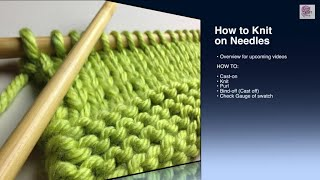 How To Knit Cast On Beginner (with Closed Captions