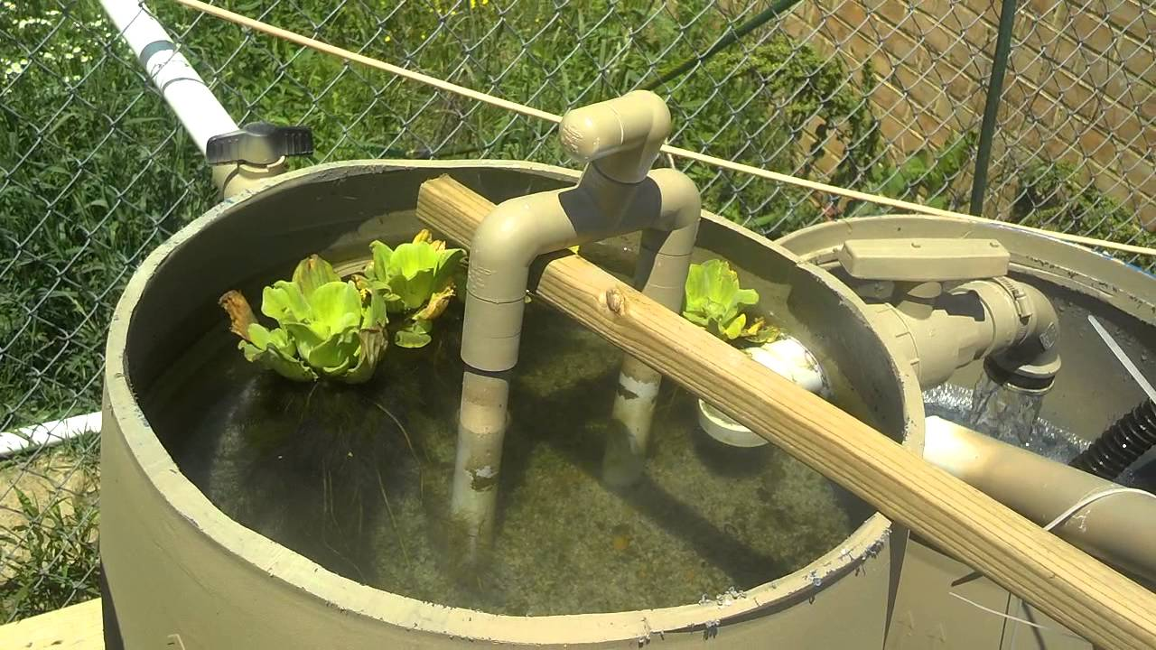 Diy sand gravel pond filters youtube for Diy sand filter for pond