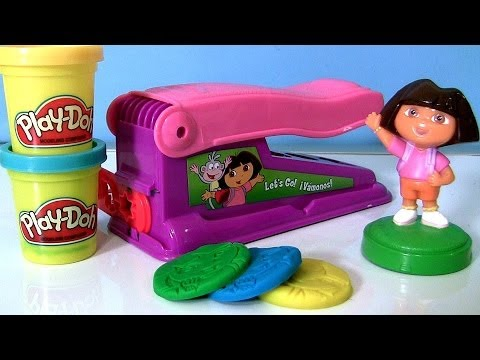 Play-Doh Fun Factory Dora the Explorer Nickelodeon Play Dough Fabrica Loca Color Mixing Le Serpentin