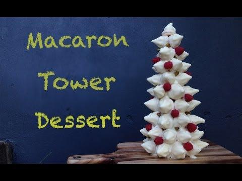 Christmas Dessert Chocolate Macaron Tower