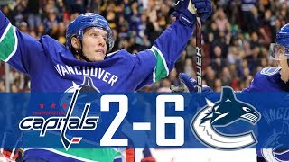 Canucks vs Capitals | Highlights | Oct. 26, 2017 [HD]