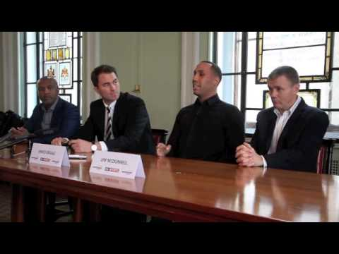JAMES DeGALE SIGNS FOR MATCHROOM, FIGHTS IBF FINAL ELMIN v GONZALEZ ON MAY 31  - FULL PRESS CONF.