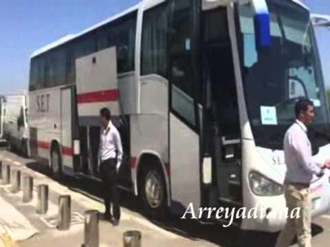 فيديو:  لحضة وصول نادي إشبيليا لاڭادير