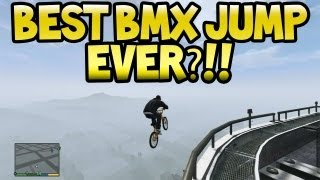 "GTA 5 - Best ""BMX JUMP & LAND"" Ever?!! GTA V Epic Stunt Jumps (Grand Theft Auto 5)"