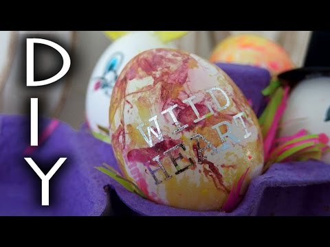 DIY Wielkanoc pomysł na dekoracje Ozdobne wielkanocne jajka pisanki wydmuszki Easter❤ TheAmmisu