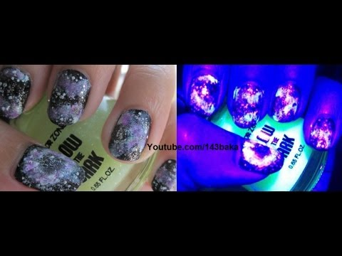 glow in the dark galaxy nails youtube