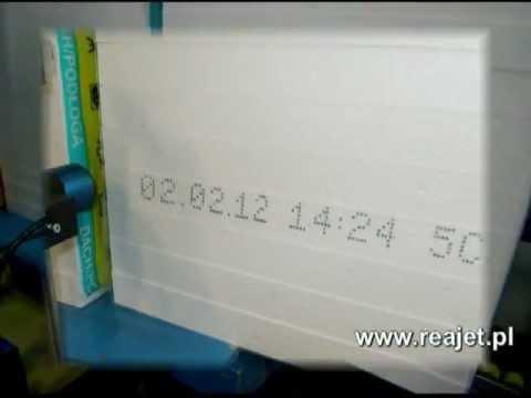 REA JET LC - drukarka przemysłowa - nadruk na styropianie