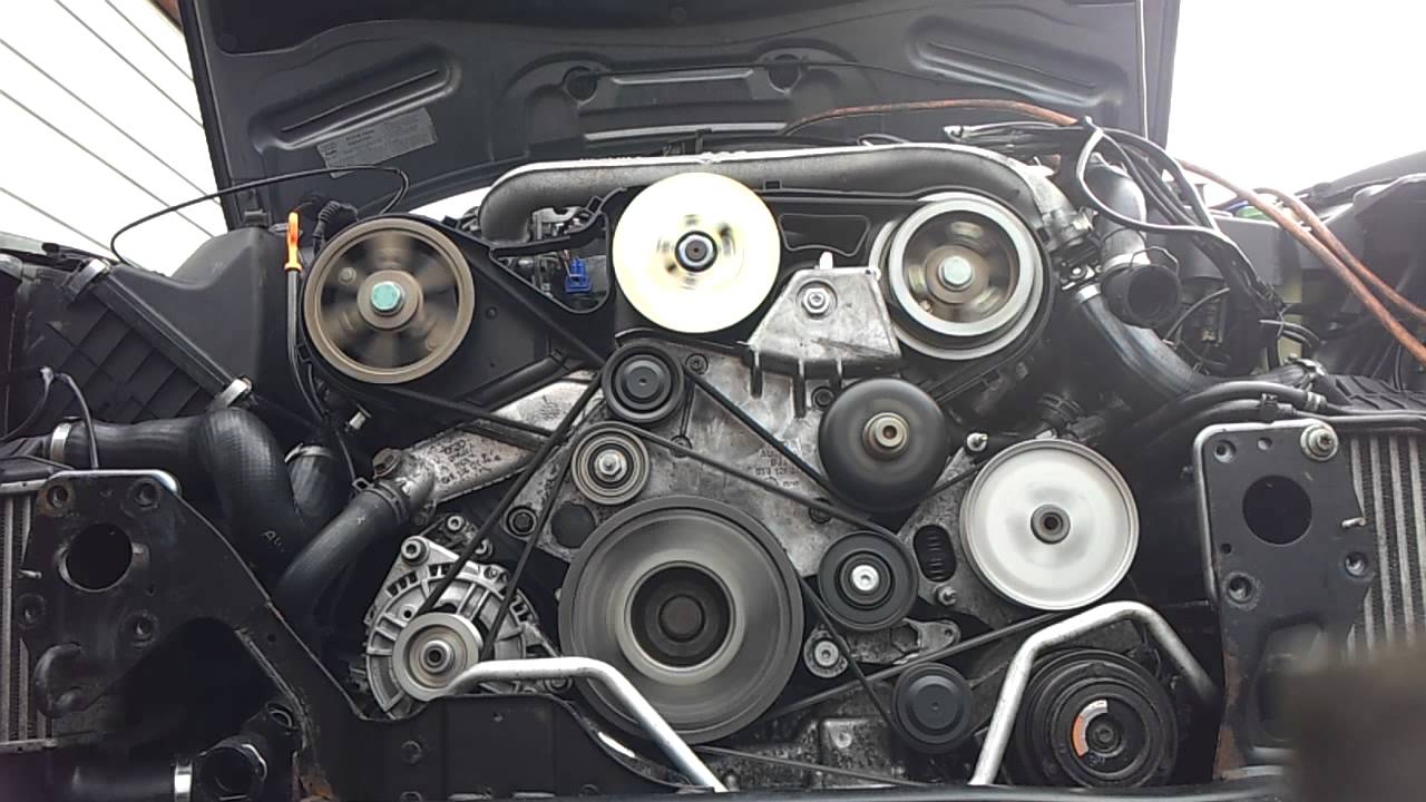 Audi a4 25 tdi    engine    belt repair  YouTube