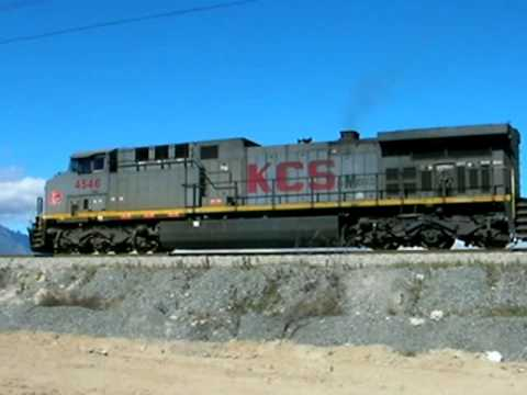 Kcsm AC4400CW #4546- Start runing on the line (Great and awesome sound of GE 7FDL-16 engines)