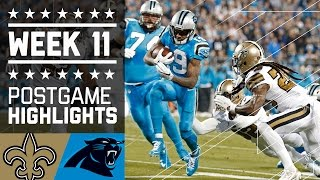Saints vs. Panthers | NFL Week 11 Game Highlights