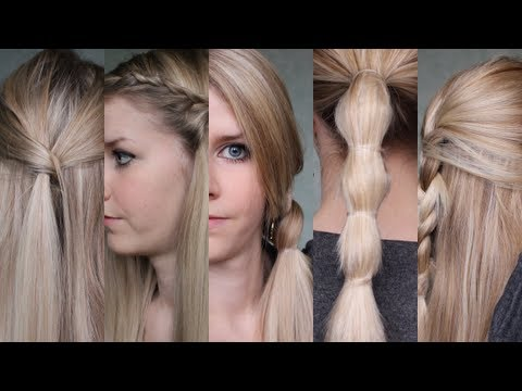 5 coiffures rapides du lundi au vendredi youtube - Coiffure facile a faire le matin ...