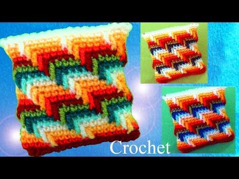 Monederos a Crochet en punto maravilloso arcoíris para cojines cobijas mantas