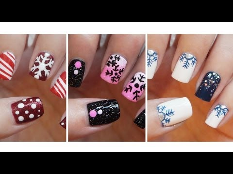 Snowflake Nail Art -Three Easy Designs!